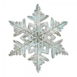 Sizzix Bigz Die w/Texture Fades - Layered Snowflake