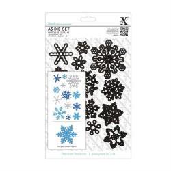 XCUT A5 Die Set - Snowflakes (13 pezzi)