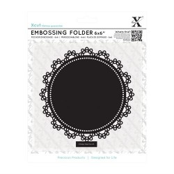 "6 x 6"" Embossing Folder - Lace Circle"