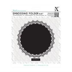 "6 x 6"" Embossing Folder - Filigree Circle"