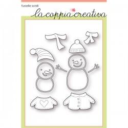 Fustelle la coppia creativa Pupazzi di neve