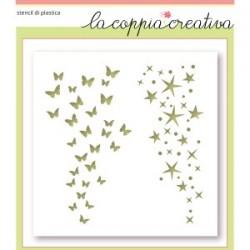 STENCIL LA COPPIA CREATIVA STELLE E FARFALLE