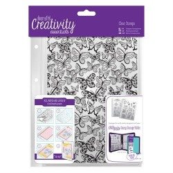 A5 Clear Background Stamp (1pz) - Butterflies