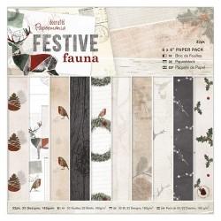 """6 x 6"""" Paper Pack (32pz) - Festive Fauna"""