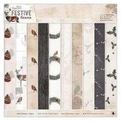 """12 x 12"""" Paper Pack (32pz) - Festive Fauna"""