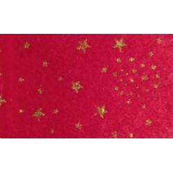Pannolenci stampato stelle glitter rosso