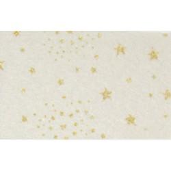 Pannolenci stampato stelle glitter panna