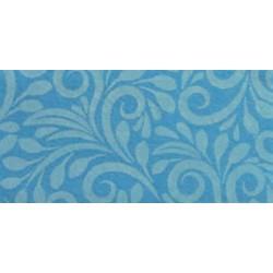Pannolenci stampato viticcio blu piccione/corda