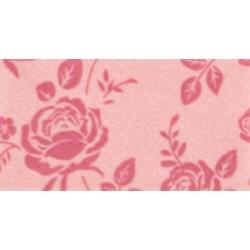 Pannolenci stampato rose rosa pastello/rosa antico