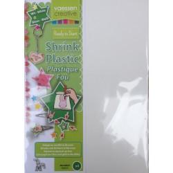 Shrink plastic white A4 x4 fogli
