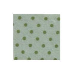 Pannolenci pois grigio argentato/verde oliva