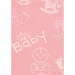 Pannolenci stampato Baby grande rosa