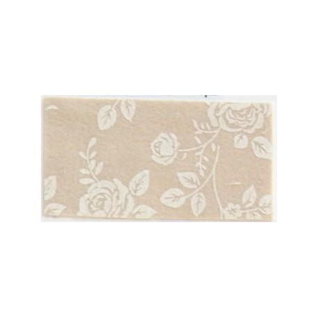 Pannolenci stampato rose beige/crema