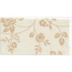 Pannolenci stampato rose panna/caffelatte