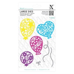 XCUT Large Dies - Filigree Balloons (7pezzi)