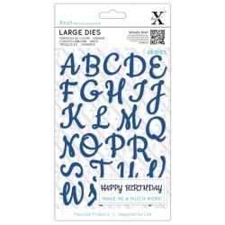 XCUT Die Set - Script Alphabet Upper Case Maiuscolo (26 pezzi)