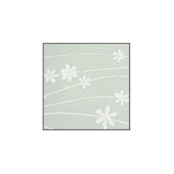 Foglio Gomma Crepla 2mm panna / fiori bianchi 40x60cm