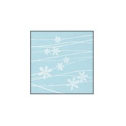 Foglio Gomma Crepla 2mm azzurro pastello / fiori bianchi 40x60cm