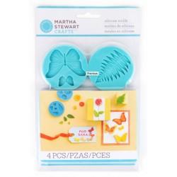 Set 4 stampi silicone Martha Stewart Mold Garden