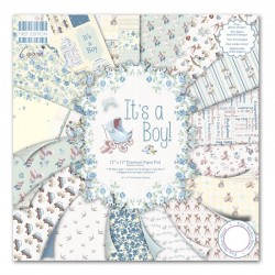 "First edition Paper pad IT'S A BOY 12""x12"""