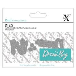 XCUT Mini Sentiment Die (3pz) - Dream Big