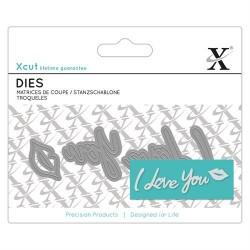 XCUT Mini Sentiment Die (4pz) - I Love You