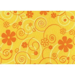 Pannolenci stampato giallo mais/arancio