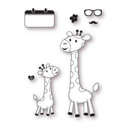 Set timbri la coppia creativa le giraffe