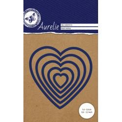 Set Fustelle Aurelie Heart Nesting Die (5pz)