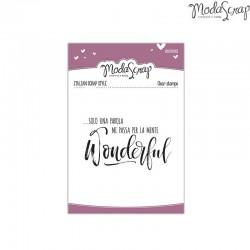 Clear Stamp Modascrap Wonderful