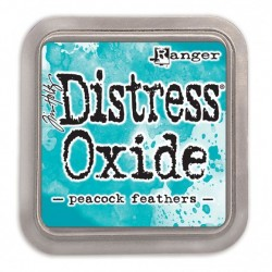 Ranger Tim Holtz distress oxide peacock feathers