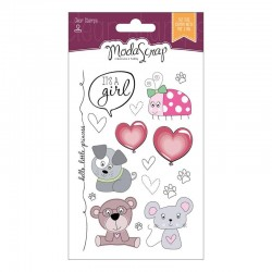 Set Clear Stamps Modascrap COLOR OF PUPPIES GIRL