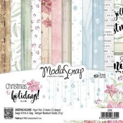 Paper pack Modascrap CHRISTMAS HOLIDAYS 15x15cm