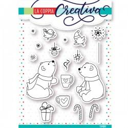 Set timbri la coppia creativa orsetti