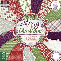 "First edition Paper pad Merry Little Christmas 8""x8"""