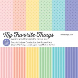 My Favorite Things Dots & Stripes Confection 6x6 Paper Pack