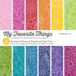 "My Favorite Things Tiny Bundles of Blossoms Brights 6""x6"" Paper Pack"