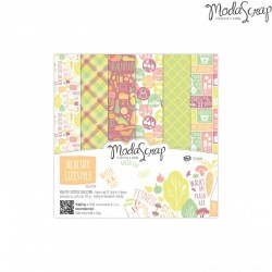 Paper pack Healthy lifestyle 15x15cm