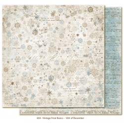 "Carta Maja Design 12""x12"" Vintage Frost Basics - 10th of Dec"