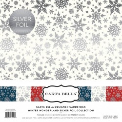 "Carta Bella Winter Wonderland 12""x12"" Silver Foil Collection"