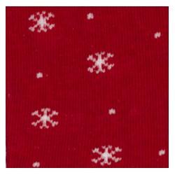 Tubolare Fiocchi di Neve rosso/panna 100cmx8cm