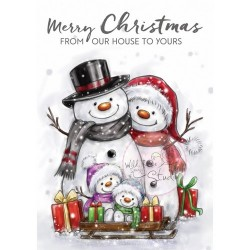 Timbro Clear Stamp Wild Rose Studio Snowman Family