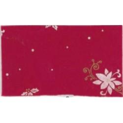 Pannolenci stampato Poinsettia Rosso/Bianco