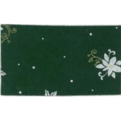 Pannolenci stampato Poinsettia Verde scuro/Bianco