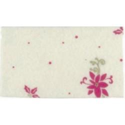 Pannolenci stampato Poinsettia Bianco panna/Rosso
