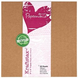 Kraftstax Carta Kraf 20.3cm x 20.3cm  -  20 fogli