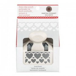 Martha Stewart deep edge punch Heartbeat