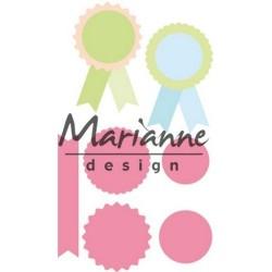 Marianne Design Collectables Village decoration set 5 col1440