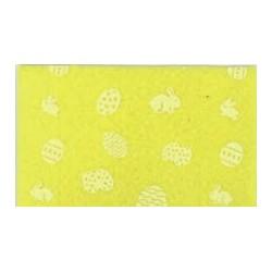 Pannolenci stampato pasquale giallo/bianco