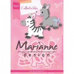 Marianne Design Collectables Eline`s Zebra & Donkey COL1447